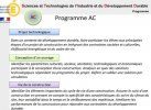 Programme de l'option AC